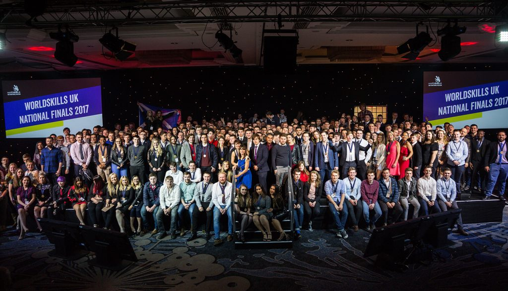 Photograph of all the Award winners and competitors at WorldSkills 2017