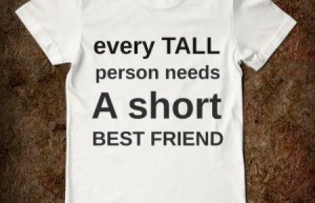 short tall person t-shirt